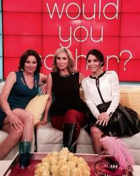 Countess Lu Ann de lesseps and Bethenny
