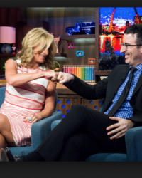 Sonja Morgan with John Oliver on WWHL with Andy Cohen 1