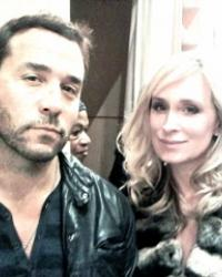 Sonja Morgan with Jeremy Piven at Domenico Vacca Fashion Week