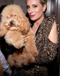 Marley and Sonja Morgan walk the runway for The Humane Society in Marc Bouwer