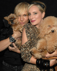Marc Bouwer and Sonja Morgan walk the runway for The Humane Society in Bouwer