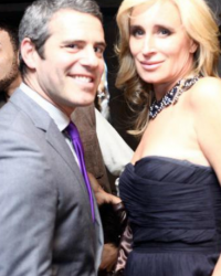Andy Cohen and Sonja Morgan Mercedes Benz Fashion Week 2010