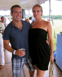Sonja Morgan at the Gay Pride Tea Dance with Andy Cohen, Hamptons 2009