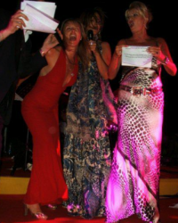 Sonja Morgan, Ivana Trump and Kathy Barrese performing in St. Tropez