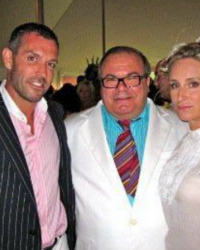 Sonja Morgan with Robert Wynne Parry & Hunt Slonem