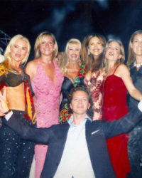 NIcki Haskell, and friends join Ivana Trump and Sonja Morgan on stage in St Tropez 2001