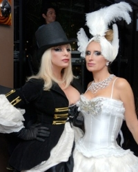 Tina Hillstrom of Beverly Hills and Sonja Morgan for her Burlesque skit