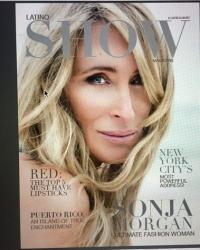 Sonja Morgan on the cover of Latino Show