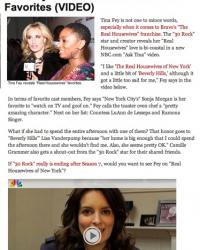TMZ, RadarOnline, BravoTV, Tina Fey, Real Housewives of NY, Real Housewives of Beverly Hills, Countess LuAnn, Ramona Singer