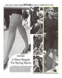"""A Short Respite for Spring Skirts"" – 1997"