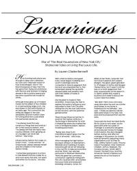Sonja Morgan Millenium Magazine Cover December 2012 pg.4
