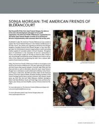 Sonja Morgan, Global Vision Magazine, Board Member American Friends of Blerancourt March 2013 p.27