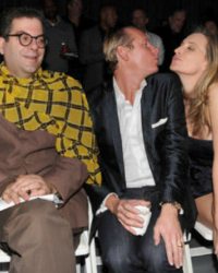 Sonja at a Jeffrey Fashion Cares Event with Carson Kressley and Michael Musto - 2010