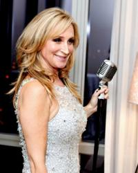 Sonja Morgan Real Housewives Sonja at the mike