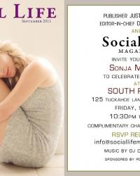 Sonja Morgan Social Life Magazine Cover and Invitiation